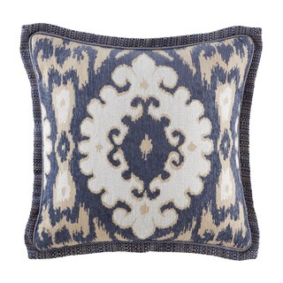 Croscill Kayden Blue Ikat 18 inch Square Throw Pillow