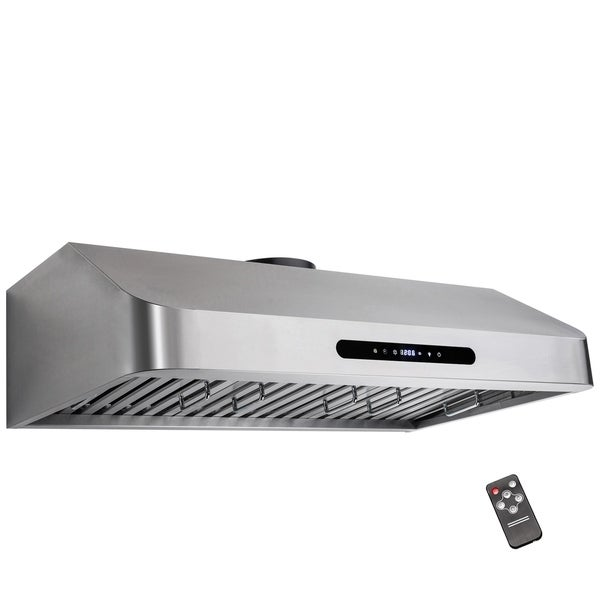 "AKDY 30"" Under Cabinet Stainless Steel Kitchen Cooking Fan Range Hood Gas Sensor Vent"