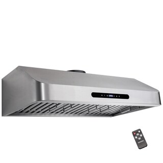 "Golden Vantage RH0307 30"" Under Cabinet Stainless Steel Kitchen Cooking Fan Range Hood"