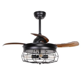 Industrial 36.5-inch Ceiling Fan with Foldable 4-Blades, Remote