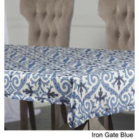 Exclusive Fabrics Iron Gate Designer Faux Silk Taffeta Outdoor Table Cloth