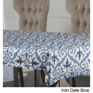 Exclusive Fabrics Iron Gate Designer Faux Silk Taffeta Outdoor Table Cloth
