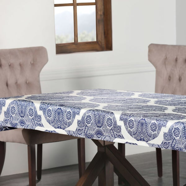 Exclusive Fabrics Royal Designer Faux Silk Taffeta Outdoor Table Cloth