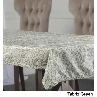 Exclusive Fabrics Tabriz Green Designer Faux Silk Taffeta Table Cloth