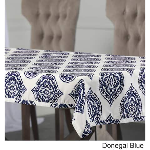 Exclusive Fabrics Donegal Designer Faux Silk Taffeta Outdoor Table Cloth