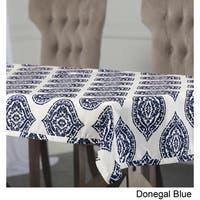 Exclusive Fabrics Donegal Designer Faux Silk Taffeta Outdoor Table Cloth