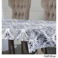 Exclusive Fabrics Delft Blue Designer Faux Silk Taffeta Outdoor Table Cloth