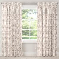 Carson Carrington Grindavik Herringbone Chocolate Unlined Curtain Panel