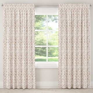 The Curated Nomad Grindavik Unlined Curtain in Herringbone Chocolate