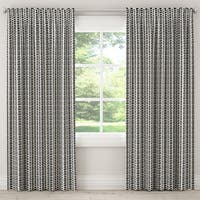 The Curated Nomad Hofn Blackout Curtain in Modern Vine Charcoal