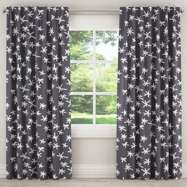 Blackout Curtain In Cross Chalk Slate Blue