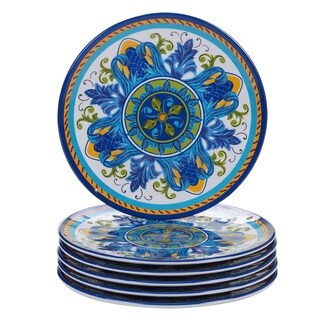 Certified International Lucca Melamine Salad/Dessert Plate (Set of 6)  sc 1 st  Overstock & Certified International Lucca Melamine Dinner Plate (Set of 6 ...