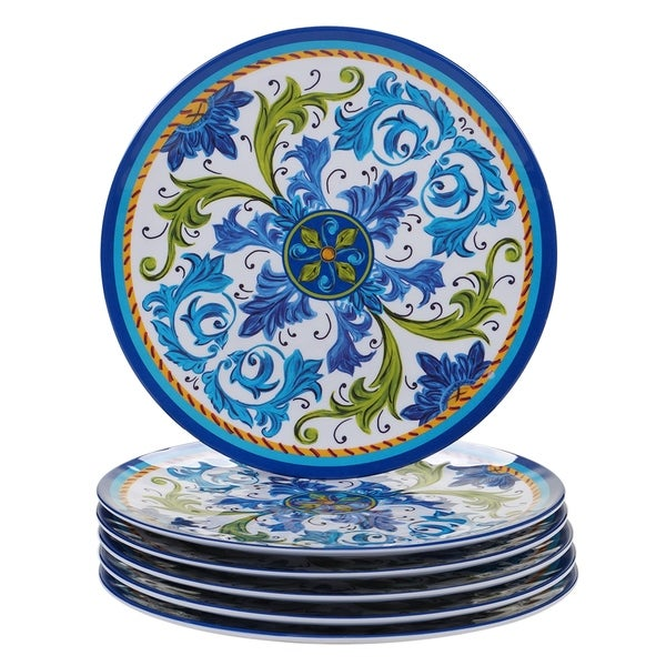 Certified International Lucca Melamine Dinner Plate (Set of 6)  sc 1 st  Overstock.com & Certified International Lucca Melamine Dinner Plate (Set of 6 ...