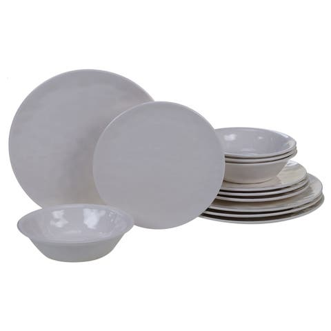 Certified International Solid Color 12-piece Melamine Dinnerware Set
