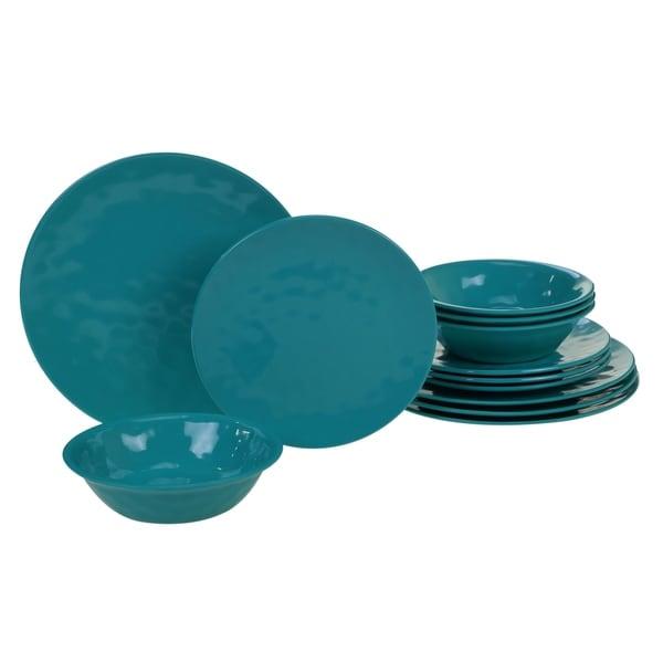 Certified International Solid Color 12 Piece Melamine Dinnerware Set