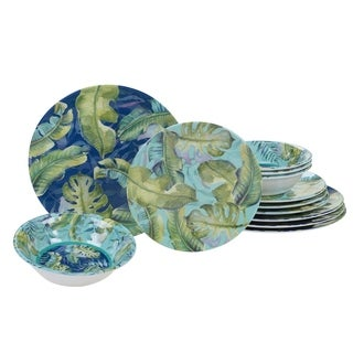 Certified International Tropicana 12-piece Melamine Dinnerware Set