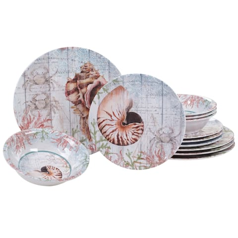 Certified International Sanibel 12-piece Melamine Dinnerware Set