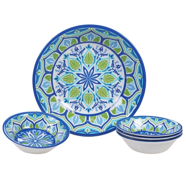 Certified International Morocco 5-piece Melamine Salad/Serving Set