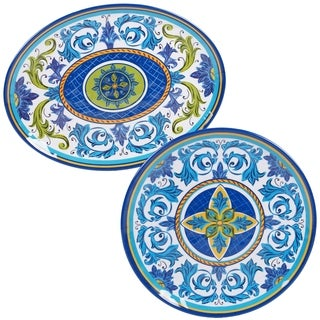 Certified International Lucca 2-piece Melamine Platter Set