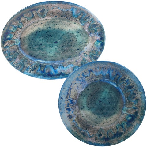 Certified International Radiance 2-piece Melamine Platter Set