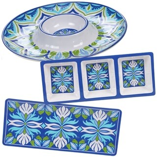Certified International Morocco 3-piece Melamine Hostess Serving Set