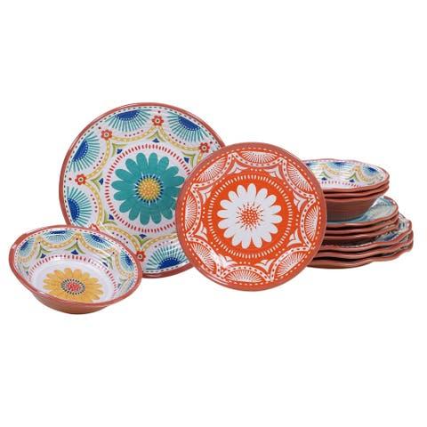 Certified International Vera Cruz 12-piece Melamine Dinnerware Set