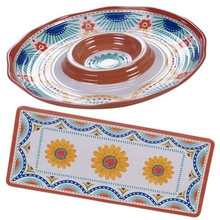Certified International Vera Cruz 2-piece Melamine Hostess Serving Set