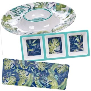 Certified International Tropicana 3-piece Melamine Hostess Serving Set