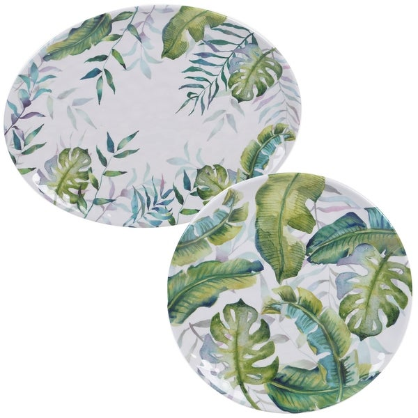 Certified International Tropicana 2-piece Melamine Platter Set