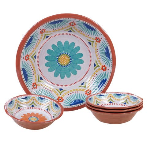 Certified International Vera Cruz 5-piece Melamine Salad/Serving Set