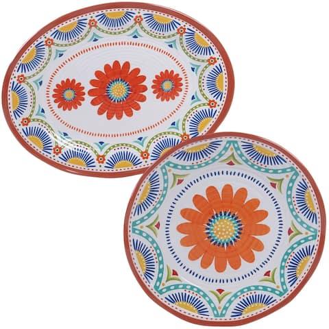 Certified International Vera Cruz 2-piece Melamine Platter Set