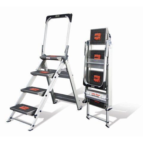 Little Giant Aluminum 4-Step Safety Step Stepstool Step Ladder