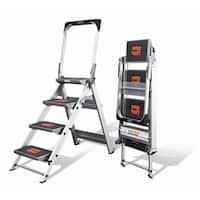 Little Giant Aluminum 4-Step Safety Step Stepstool Step Ladder