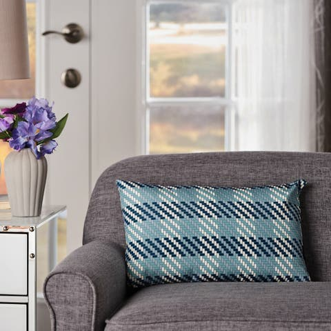 Lathan Plaid Rectangle Pillow by Christopher Knight Home