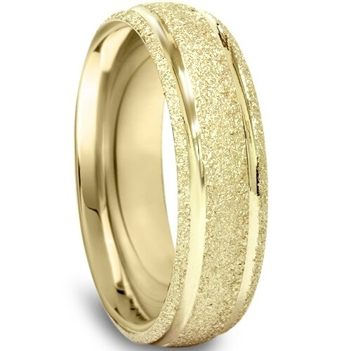 Solid 10k Yellow Gold 5mm Comfort Fit Wedding Band