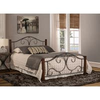Hillsdale Destin Black Metal/Wood Queen Bed With Rail