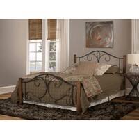 Hillsdale Destin Brushed Oak Finish Wood Metal Queen Size Bed Frame