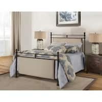 Hillsdale Ashley Rustic Brown Metal King Bed with Bed Rail Included