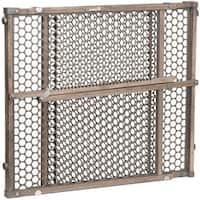 Safety 1ˢᵗ® Vintage Grey Wood Doorway Gate in Gray