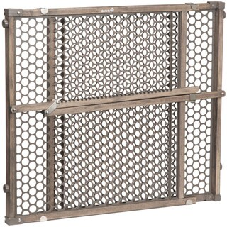 Safety 1® Vintage Grey Wood Doorway Gate in Gray