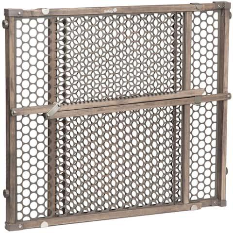 Safety 1® Vintage Grey Wood Doorway Gate in Gray