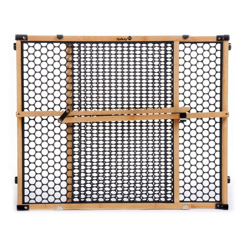 Safety 1® Bamboo Doorway Gate in Bamboo with Black (1)