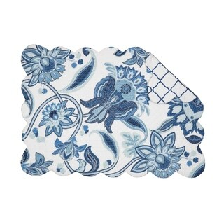 Isabella Cotton Quilted Placemat Set of 6 - N/A