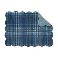 Mason Plaid Rustic or Nautical Cotton Quilted Placemat Set of 6