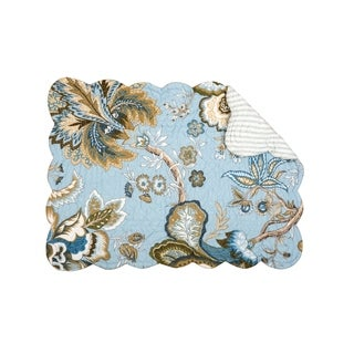 Madison Blue Cotton Quilted Placemat Set of 6