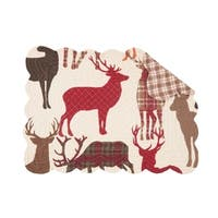 Nash Rustic Cotton Quilted Placemat Set of 6 - N/A