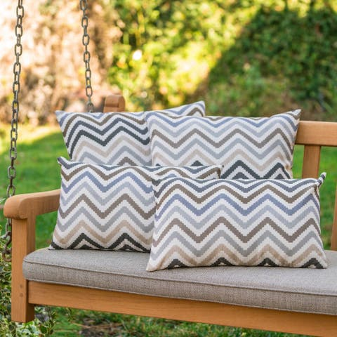 Kimpton Outdoor Zig Zag Pillow (Set of 4) by Christopher Knight Home
