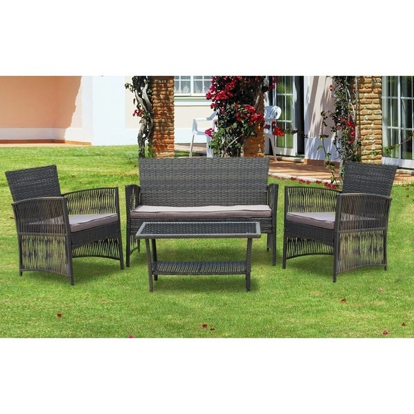 Cheap Furniture Stores Online Free Shipping: Shop IDS Home 4 Pieces Patio Furniture Dining Set Garden
