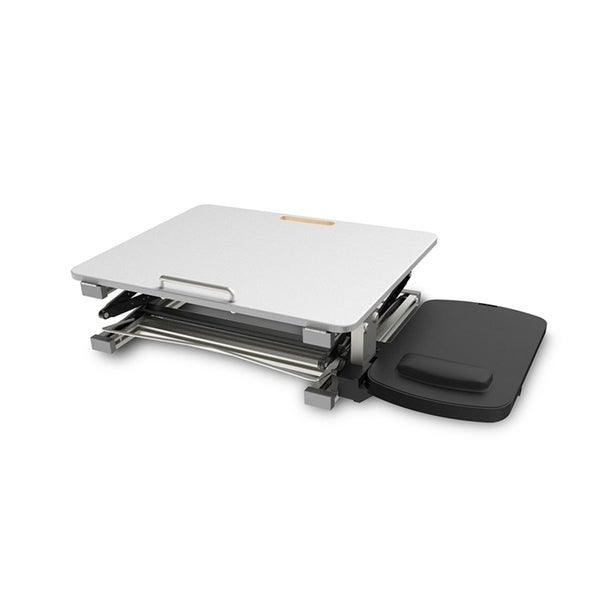 Standing Desk Riser Tilt Sit Stand Up Table Converter w/ Mouse Pad