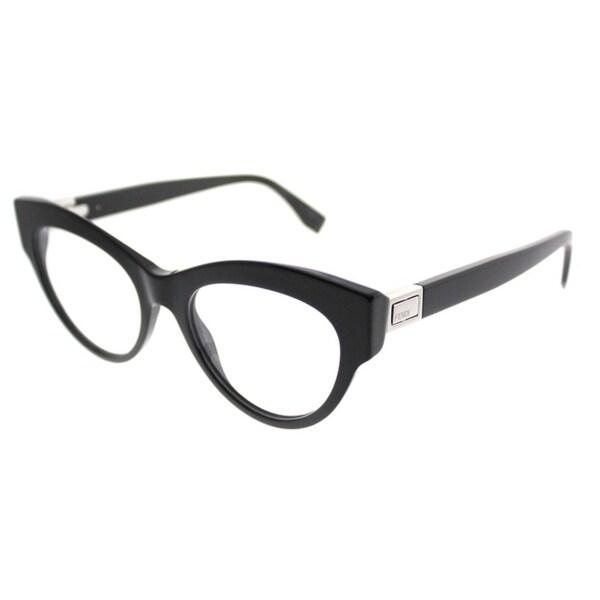 9c038caee1c Shop Fendi Cat-Eye FF 0273 807 Women Black Frame Eyeglasses - Free ...